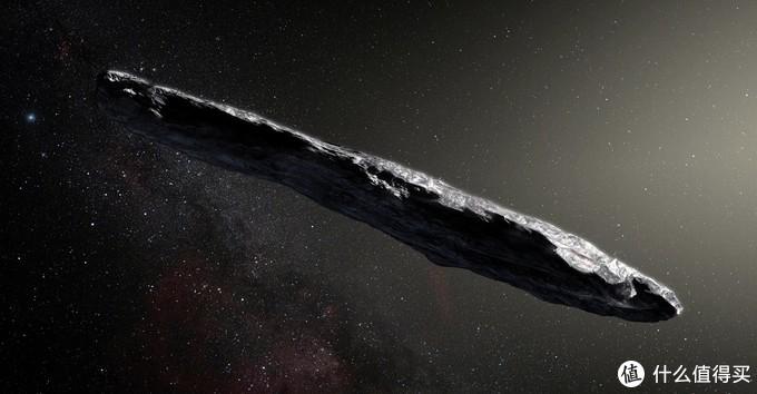 """奥陌陌Oumuamua,C/2017 U1 是已知的第一颗经过太阳系的星际天体。ʻOumuamua在夏威夷语中意为""""侦查兵""""或""""信使""""。2017年10月19日,被科学家们发现。Oumuamua直径在百米级,以每秒26公里左右的速度从天琴座方向冲进太阳系,近乎与黄道面垂直。呈现一个雪茄状,大约长400米,宽40米,颜色偏红,具有固态表面,但是不能区分或岩石或金属构成。是人类首次在太阳系内发现系外天体。"""