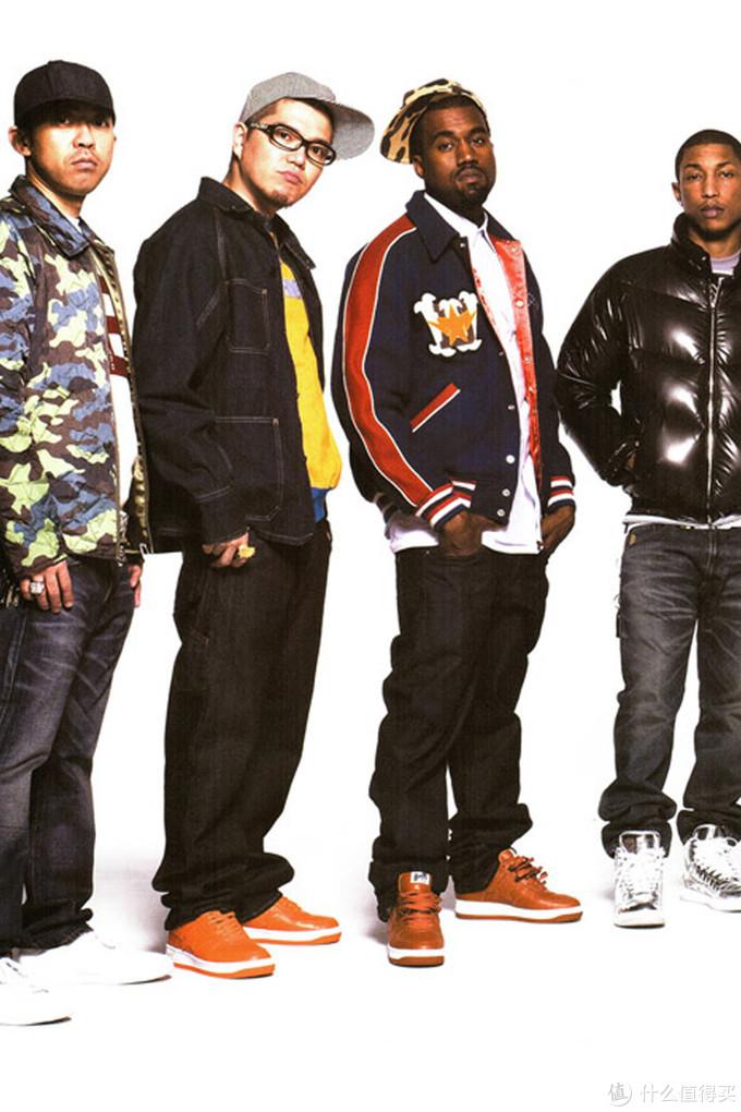 2008年,菲董、Kanye等人出现在BAPE的型录中,摘自HYPEBEAST