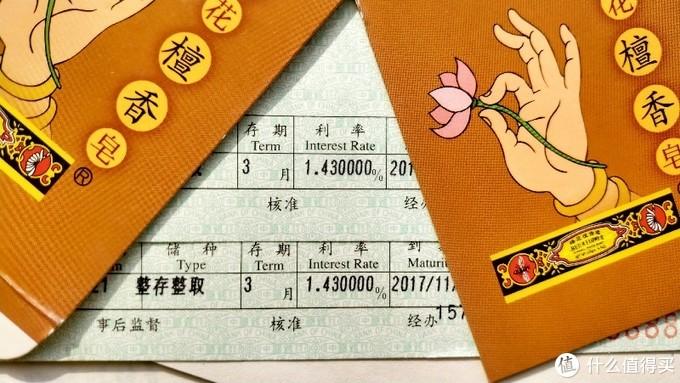 2017年的三个月 1.43/中国银行