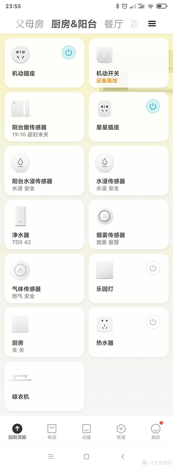 厨房&阳台设备列表