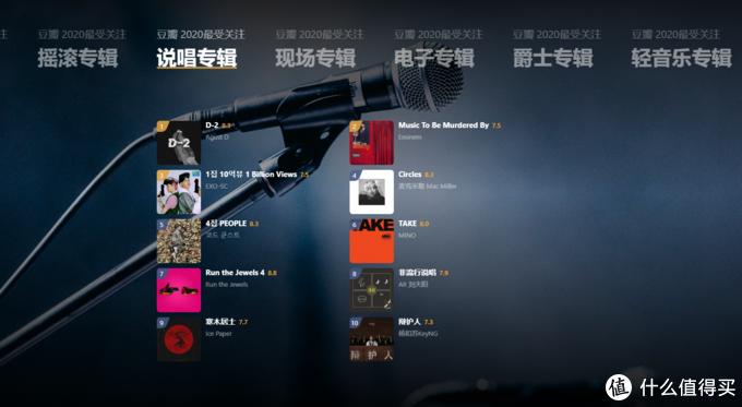 2020年豆瓣年度音乐榜单出炉,附每个榜单前三名播放链接
