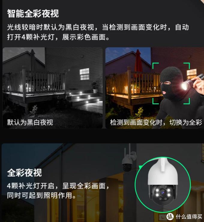 360智能摄像机室外球机5C版上架预售:2K智能全彩夜视、双云台/360°全景