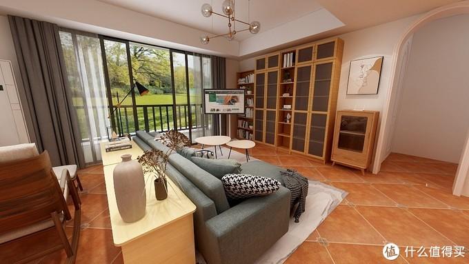 电视用挂在可移动支架上还方便移动到卧室或书房使用