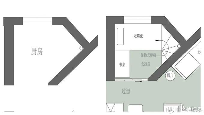 三代同堂又撞上二胎,95%承重墙的65m²小两居,靠空间换位改出3室2卫