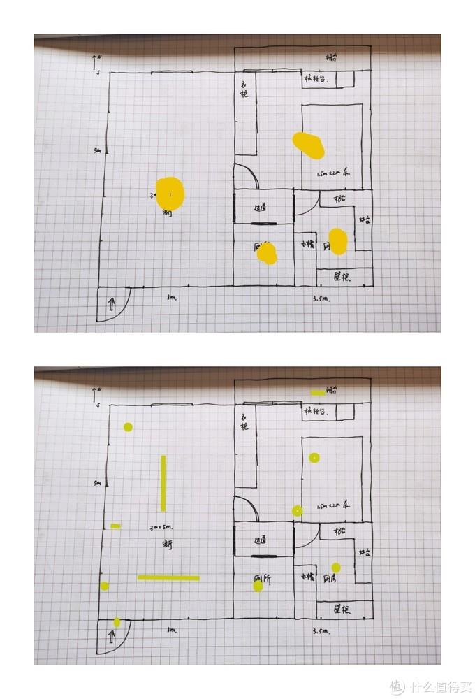 灯光分布对比图