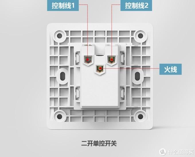 此开关属于一进2出,而单开单控开关是一进一出的,也就是图中所示少一个控制线2