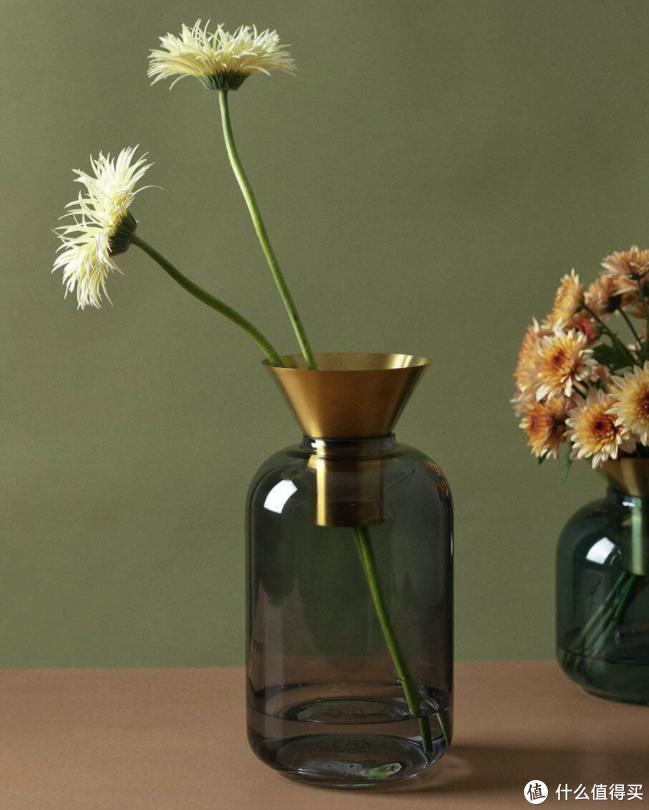 小米有品上线翡冷翠玻璃花瓶,PVC镀钛金+莫兰迪色系,说是在欧洲花园也没人不信