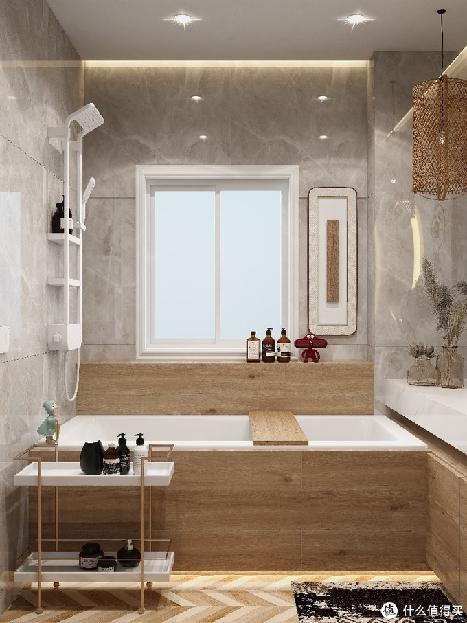 秋冬温馨浴室里的绝妙花洒,淋浴舒适度up up