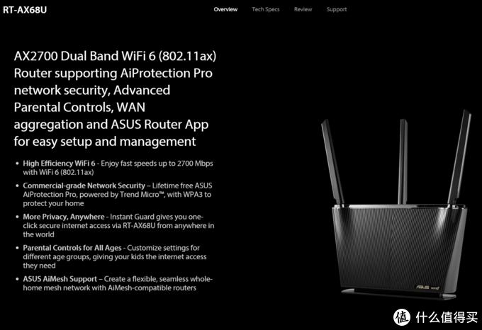 华硕WiFi6路由器 新品RT-AX68U点评