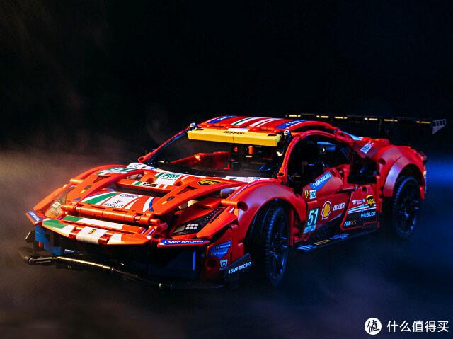 "LEGO 42125 法拉利488 GTE ""AF CORSE #51""鲜红的冠军车"