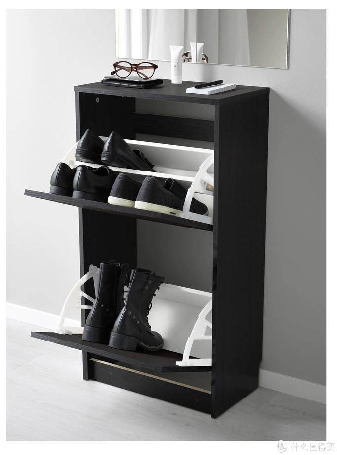 BISSA 比萨 双门鞋柜 黑色