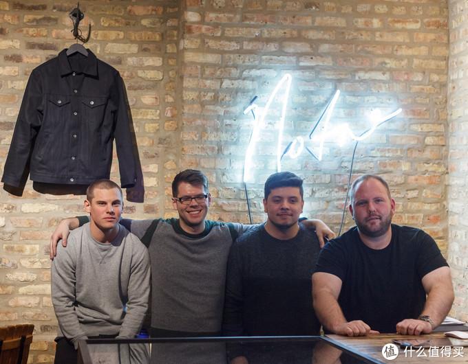 摘自Chicago Tribune,从左至右:MJ Jaworowski, AJ Nordstrom, Jose Villanueva, Rob Wilce,NOTRE开业时候的照片