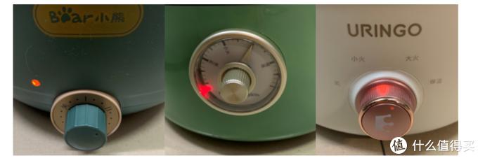 三款电煮锅电火锅都为一体式,锅体与加热底盘连为一体,内胆不可拆卸分离。操作方便,旋转旋钮即可调节档位加热。