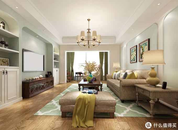 简简单单的美式风格新家,弧形门洞造型,全屋漂亮又有个性,爱了