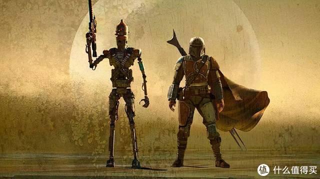 曼达与IG11,IG11后来被改造成保护机器人