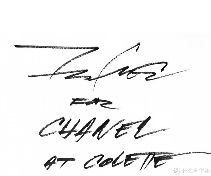 不过艺术家本人的手写字体倒是也很有辨识度,摘自BLACKRAINBOW