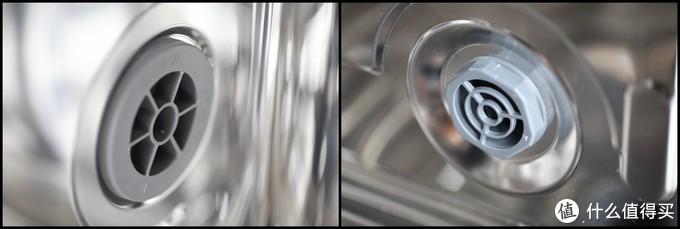 机内的另外两个出口,左边的连接呼吸器,平衡气压,右边的是排气口,也能起到平衡气压的作用。