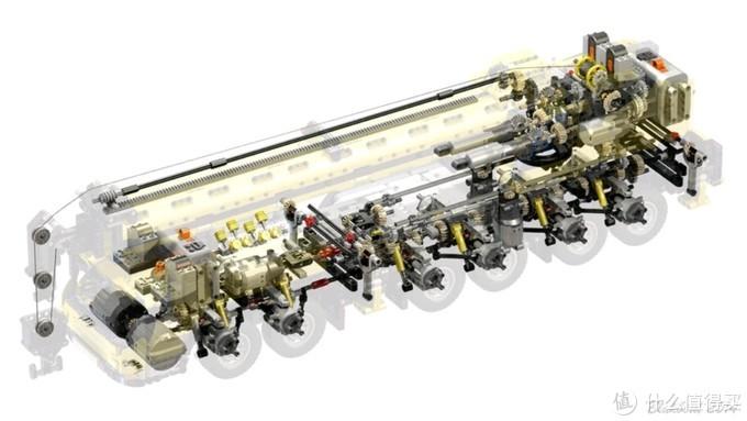 GMK6400悬挂版本电动部件透视图