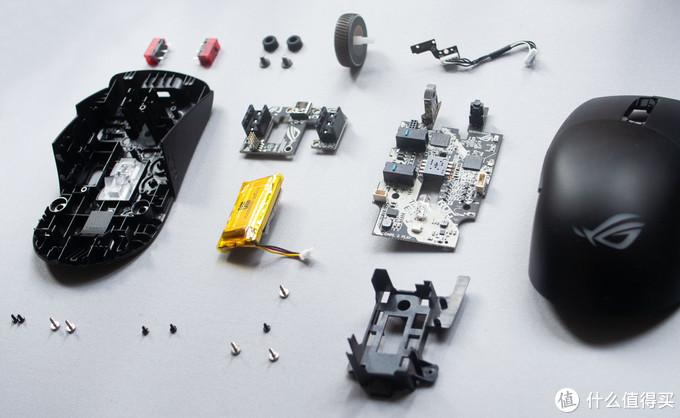 姗姗来迟的华硕轻量游戏鼠标 ROG月刃无线 Keris Wireless 拆解分析