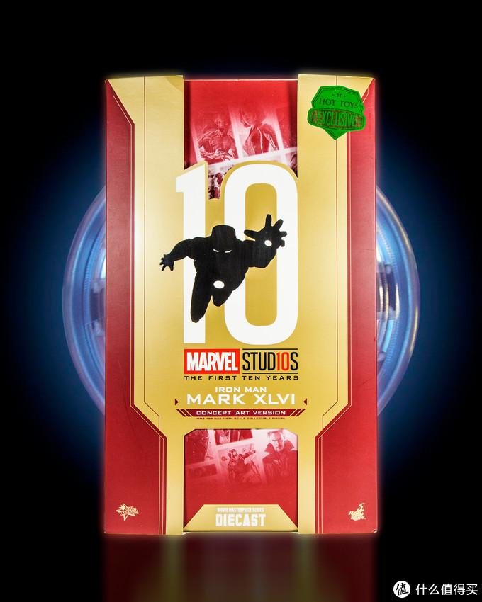 十周年纪念版,复古风更好看!Hot Toys MMS489D25 钢铁侠MK46 概念艺术版