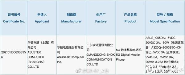 ROG游戏手机5真容现身,性能跑分出炉,搭骁龙888+6000mAh超大电池