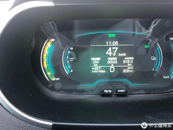 最左侧蓝色部分显示加速功率,35kw,仪表盘这个不具有参考价值。