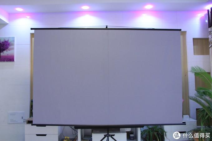 我的幕布:红金叶白玻纤 100寸 4:3支架幕