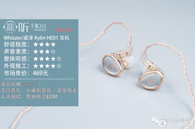 听感至上:Whizzer/威泽 Kylin HE01 入耳式耳机体验测评报告
