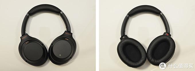 WH-1000XM3耳罩平铺后的正反两面