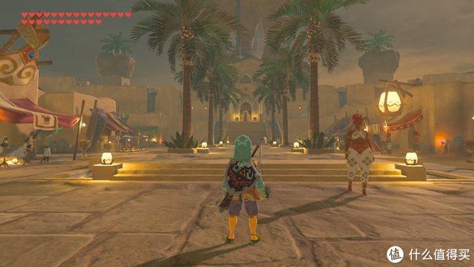 Gerudo镇,沙漠绿洲晚上的集市