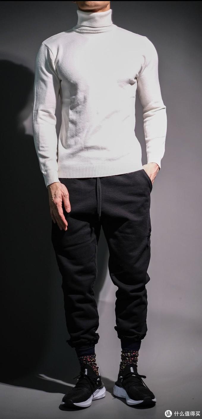 唯品会试衣间:200元内男士高领毛衣