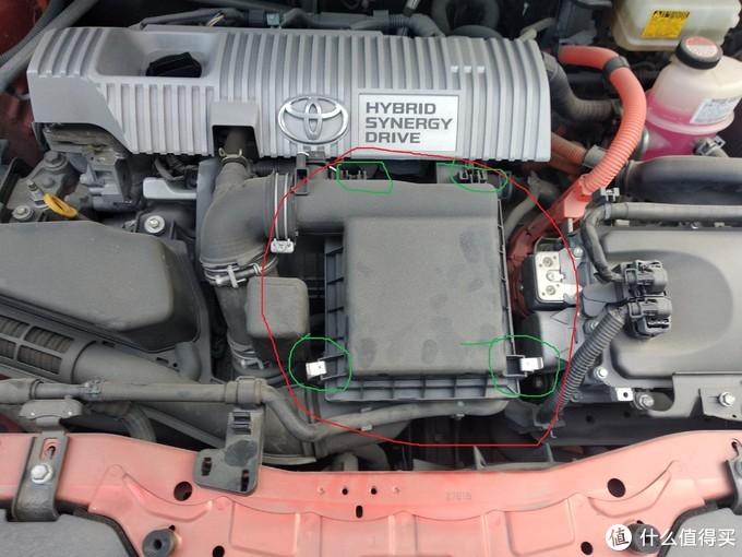 不会修车的丰田车主动手操作1--更换雷凌双擎空气滤芯小记