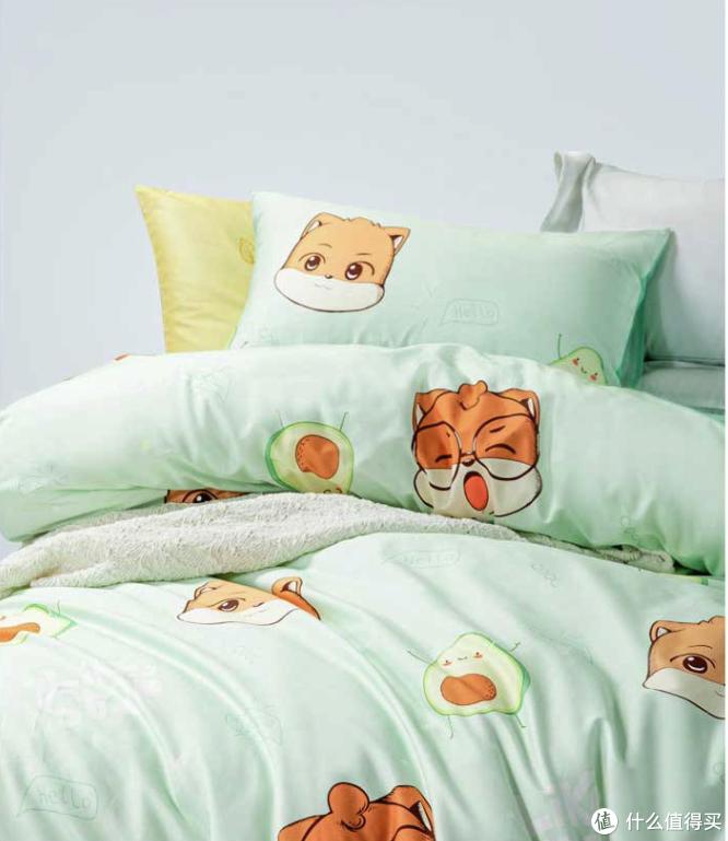 水星家纺上新三只松鼠卡通套件,全棉抗菌科技,让孩子拥有健康睡眠