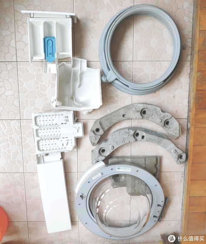 滚筒洗衣机振动增大、蹦蹦跳跳?自己动手拆解洗衣机,更换阻尼杆+深度清洁