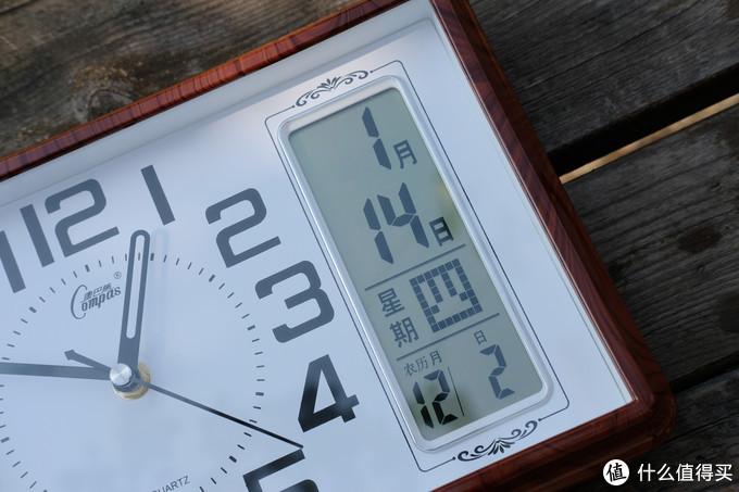 COMPAS康巴丝 带数显日历静音座钟 入手体验