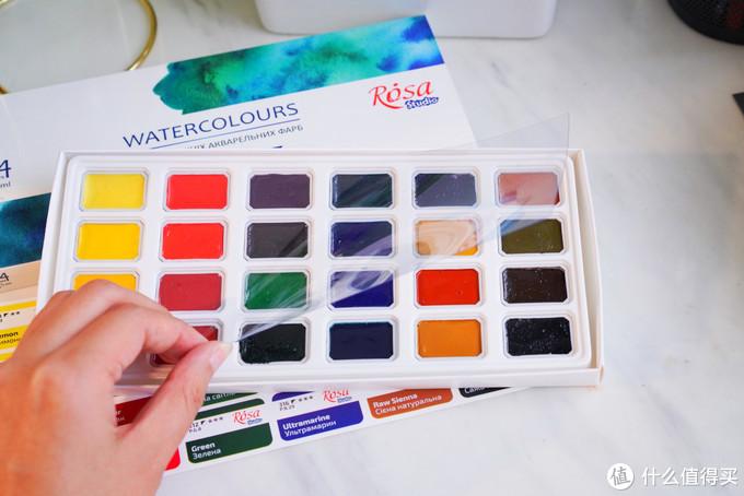 50元都不到的入门级颜料?水彩新手用具良心推荐!乌克兰白夜罗莎24色水彩颜料