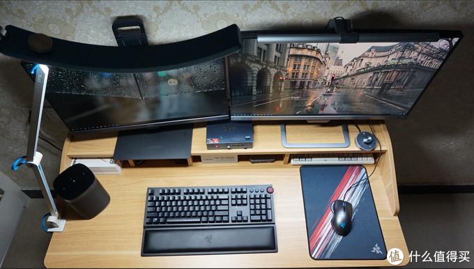 双层双屏,效率双倍 晒一下我的轻奢办公桌面