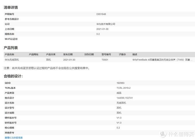图源:蓝牙认证机构,浏览器自动翻译
