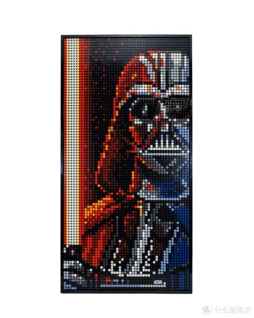 官方套装的非官方化处理:乐高艺术画系列31200×2 达斯·维达胸像画