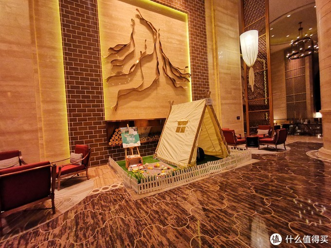 酒店大堂的休息区