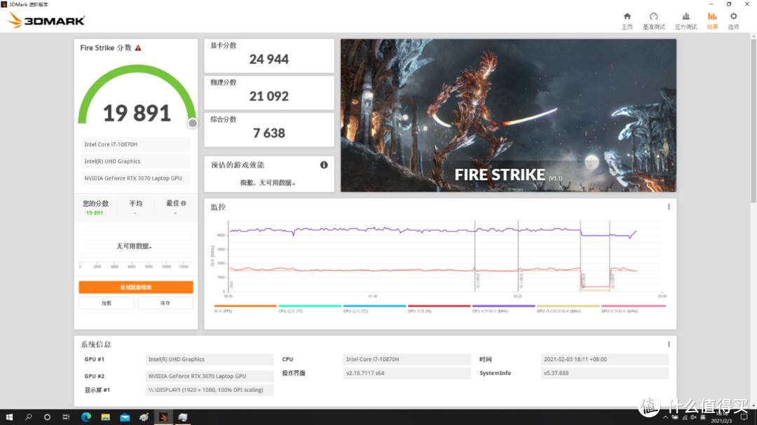 高性能游戏本成为玩家更好的选择:雷神911P1 i7-10870H RTX3070 深度评测