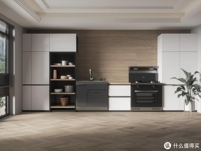 真香预警!一套打造轻净新厨房!美的悦净集成水槽XQ02+美的悦家集成灶WX08套装体验