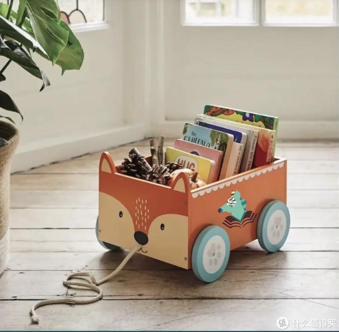 一个卡通车形状会移动的书架