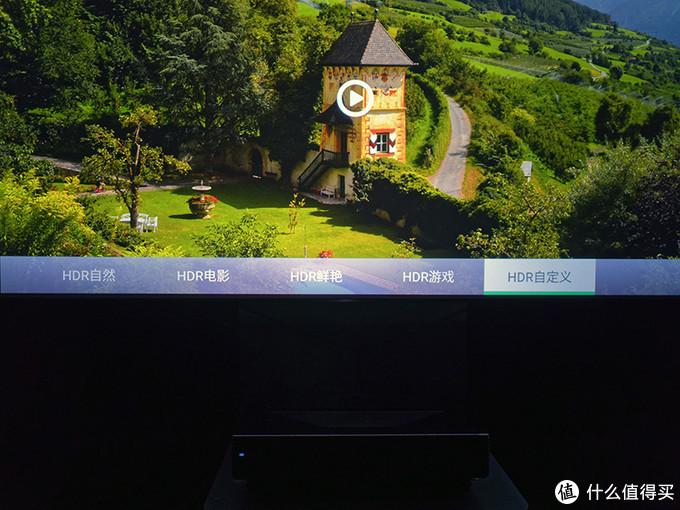 当检测到输入信号是HDR格式之后,DOMINO DTV的预设图像模式会因应更改为HDR自然、HDR电影、HDR鲜艳、HDR游戏与HDR自定义模式