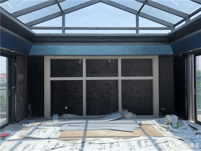 构建完成的阳光房影院