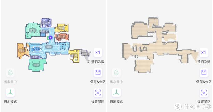 左:普通平面地图;右:3D地图