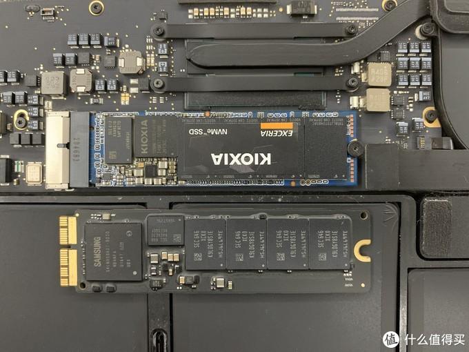 换上KIOXIA 500G,很烦APPLE螺丝啊、充电线啊、硬盘啊等这些接口都跟别人不一样