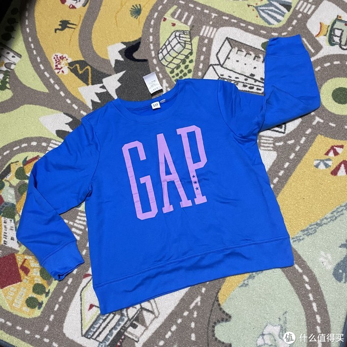 GAP女装logo圆领卫衣