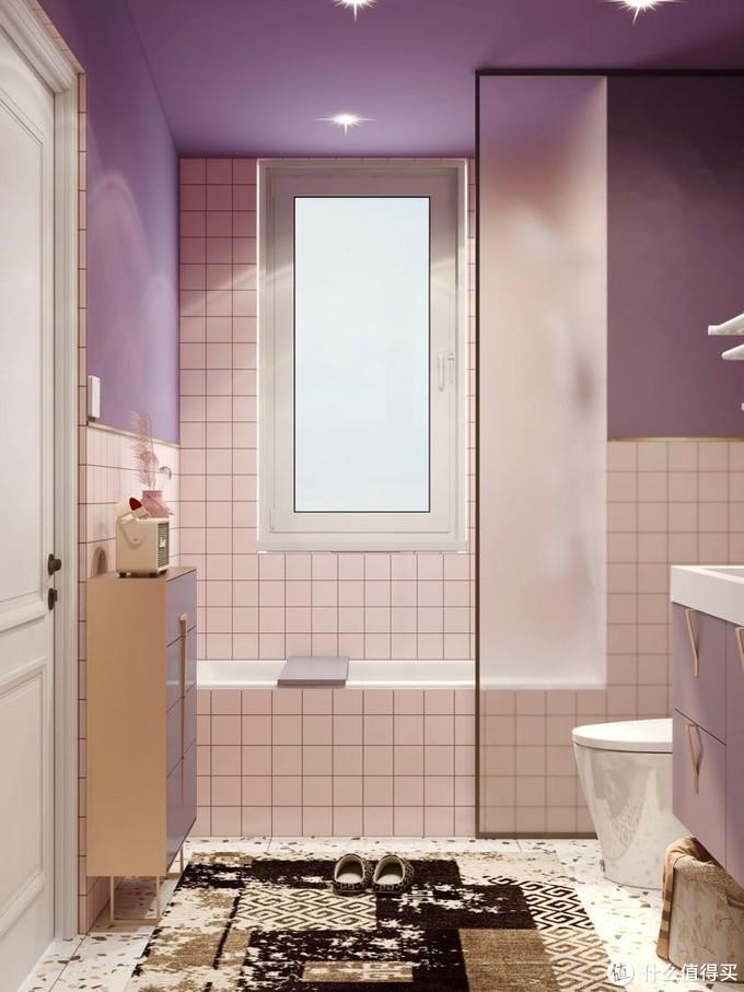 5㎡粉紫色:宅家的幸福感是智能马桶给的