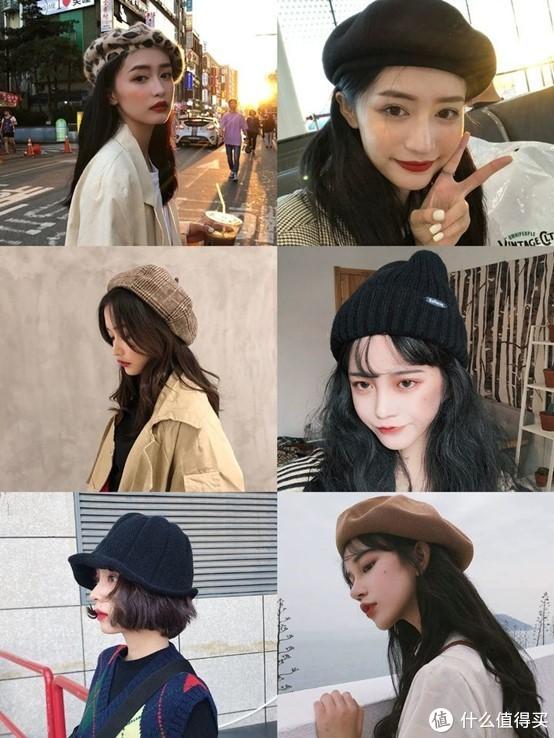 摁头推荐!敲好看的女生围巾帽子,初春外出必备~